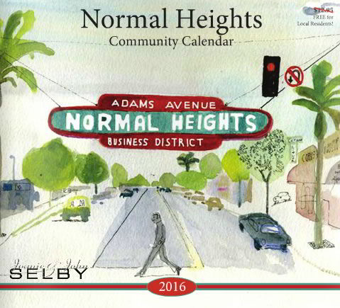 Normal Heights 2016 Calendar